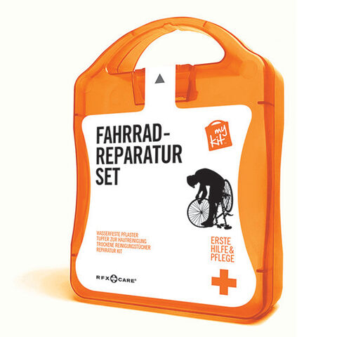 werbeland®-News: MyKit-Fahrradreparatur-Set in orange.
